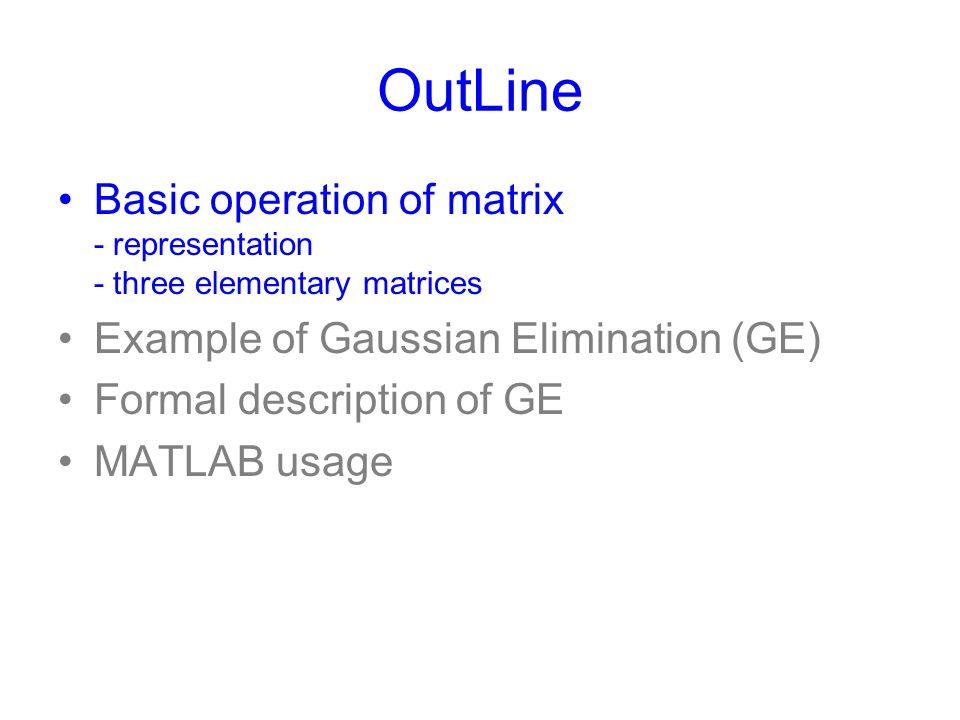 LU-decomposition Exercise: LU-decomposition You should find recursive structure of the decomposition