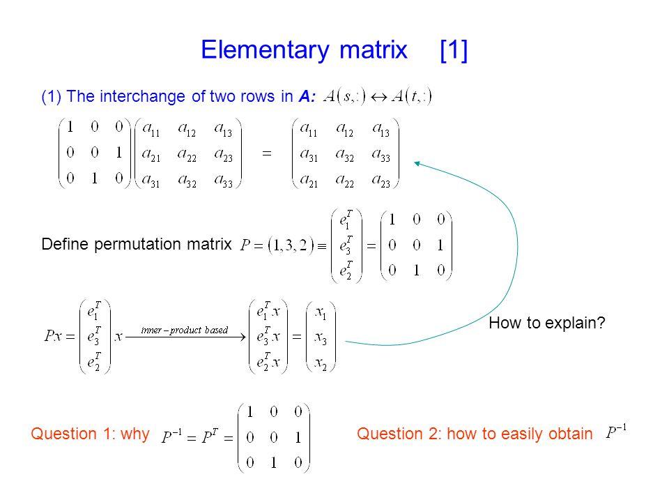 OutLine Basic operation of matrix Example of Gaussian Elimination (GE) Formal description of GE MATLAB usage - website resource - help command - M-file
