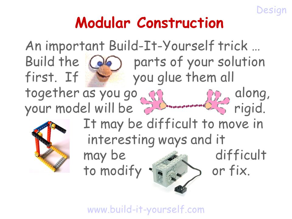 An important Build-It-Yourself trick … Build the parts of your solution first.