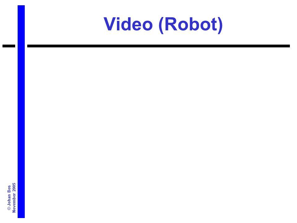 © Johan Bos November 2005 Video (Robot)