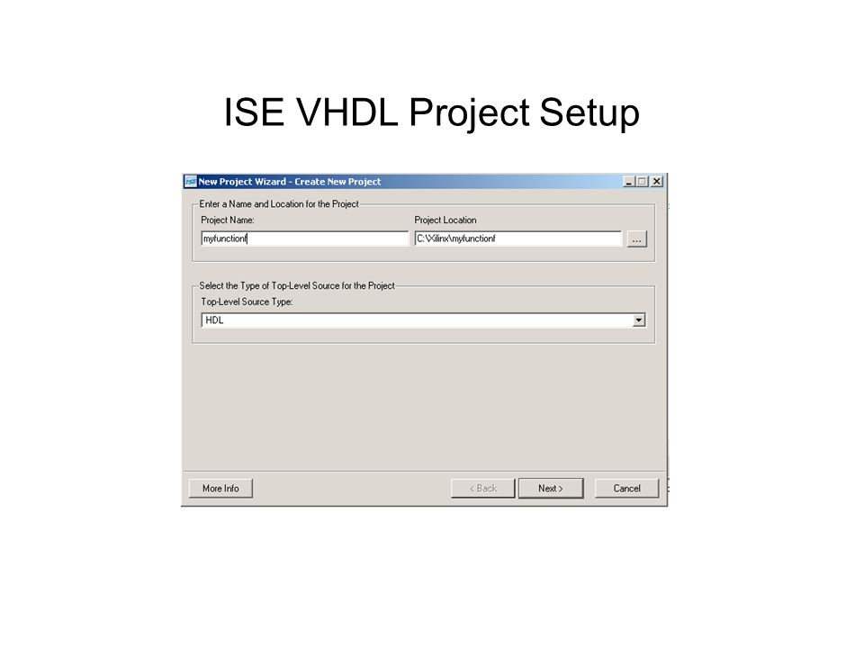 ISE VHDL Project Setup
