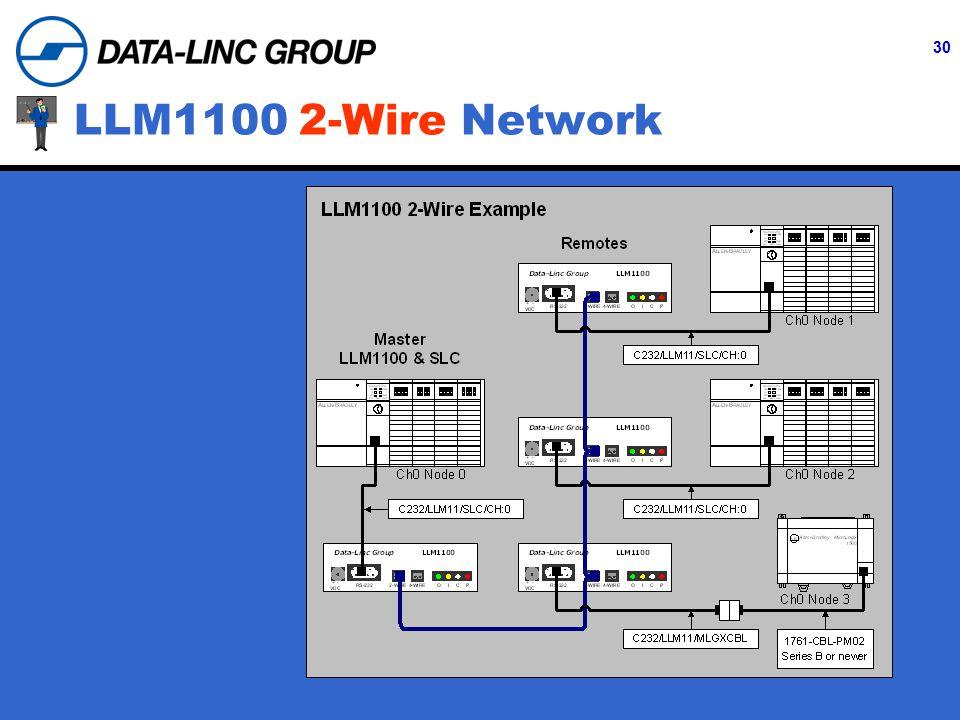 30 LLM1100 2-Wire Network