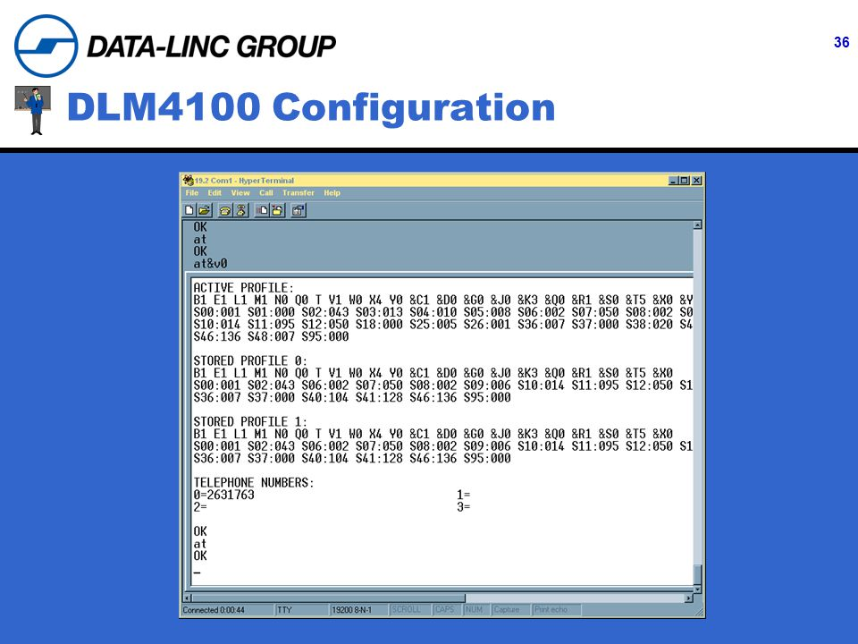 36 DLM4100 Configuration