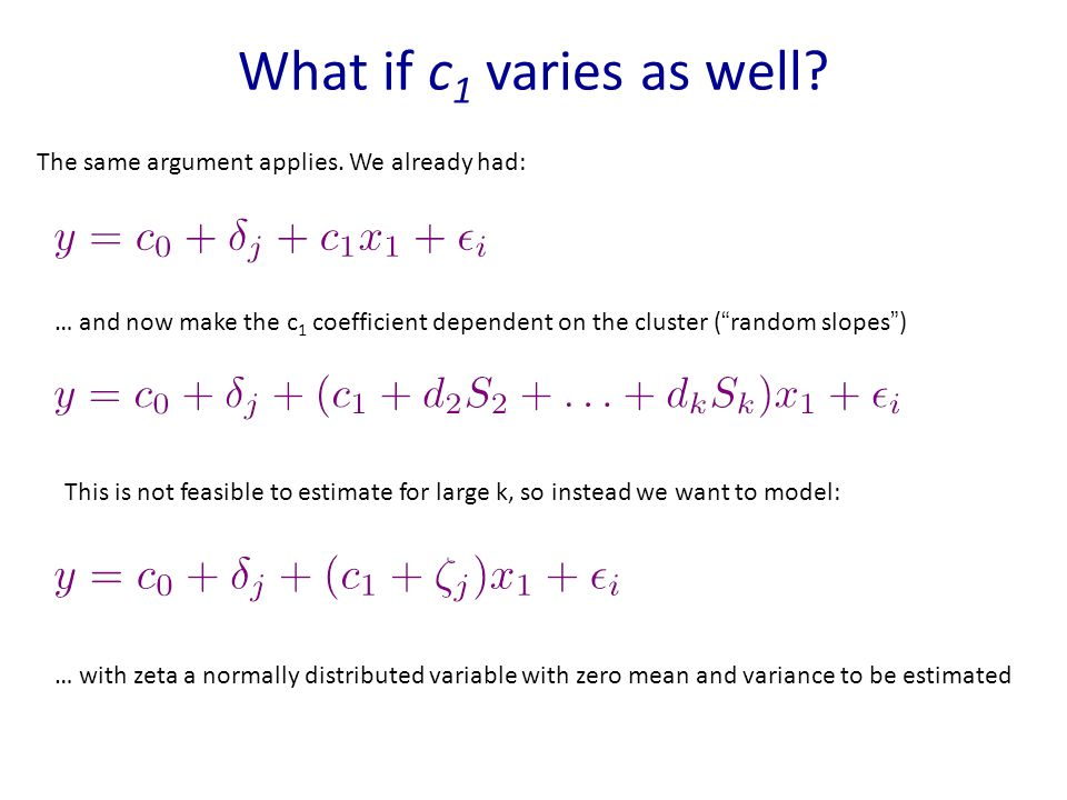 What if c 1 varies as well. The same argument applies.
