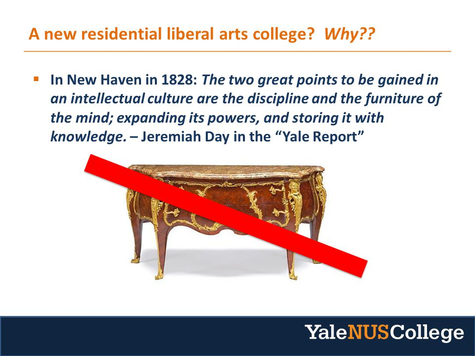 A new residential liberal arts college. Why .