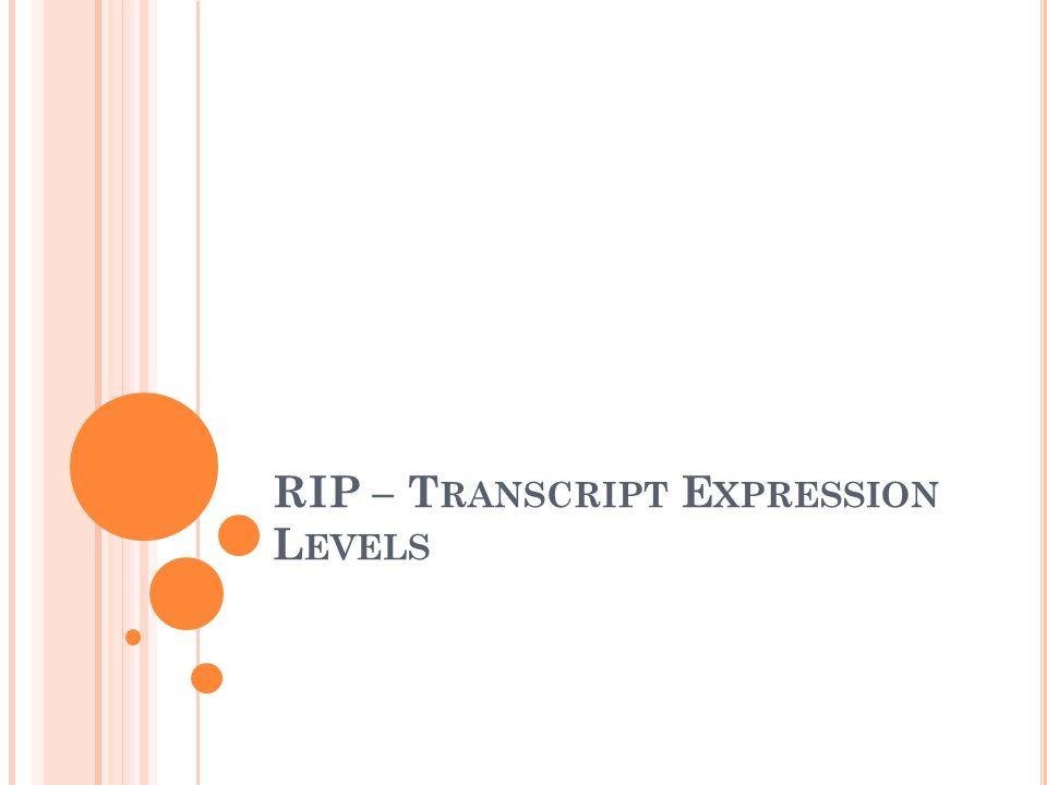 RIP – T RANSCRIPT E XPRESSION L EVELS