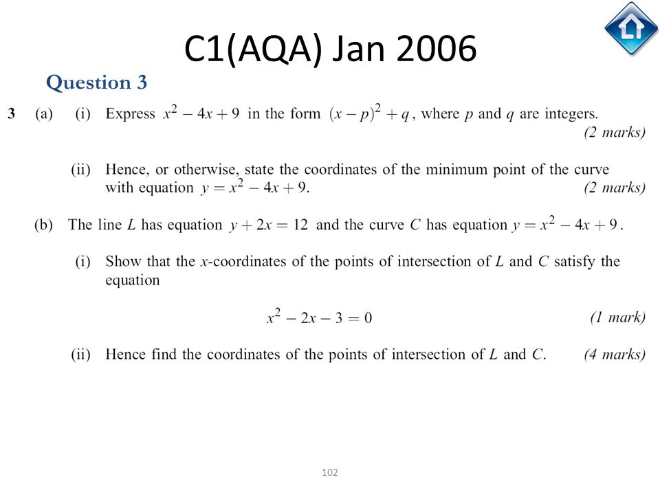 102 C1(AQA) Jan 2006 Question 3