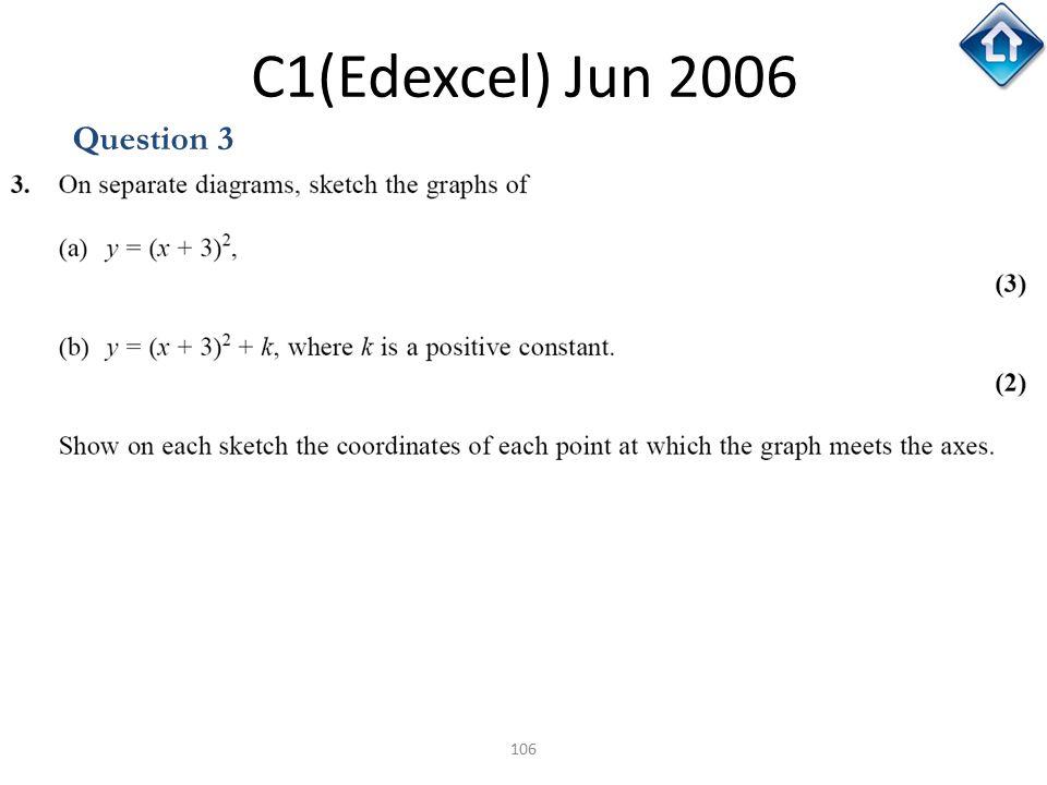 106 C1(Edexcel) Jun 2006 Question 3