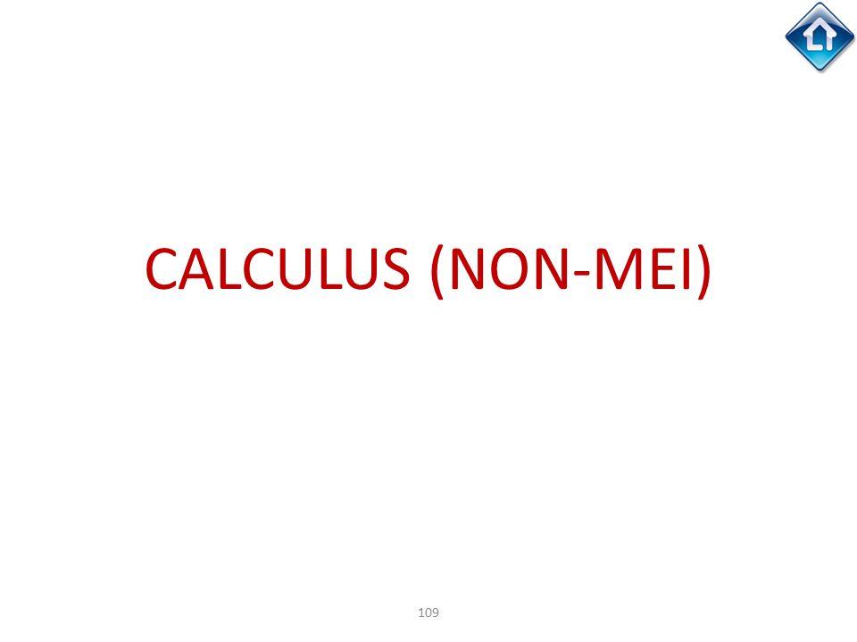 109 CALCULUS (NON-MEI)