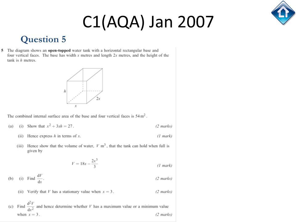 131 C1(AQA) Jan 2007 Question 5
