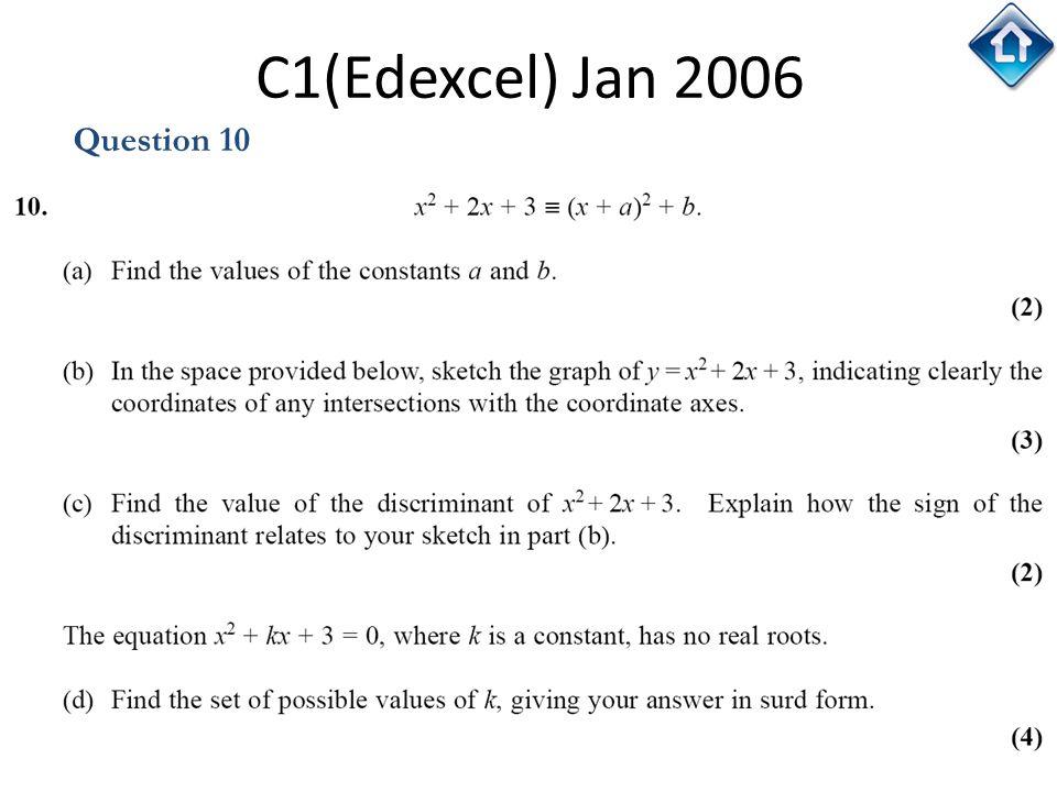 135 C1(Edexcel) Jan 2006 Question 10