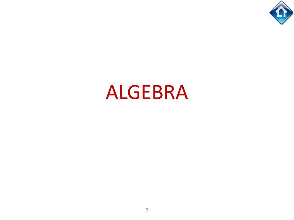 3 ALGEBRA