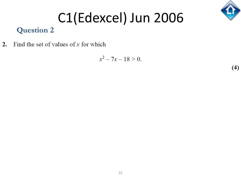 31 C1(Edexcel) Jun 2006 Question 2