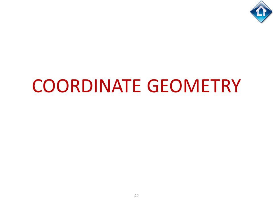 42 COORDINATE GEOMETRY