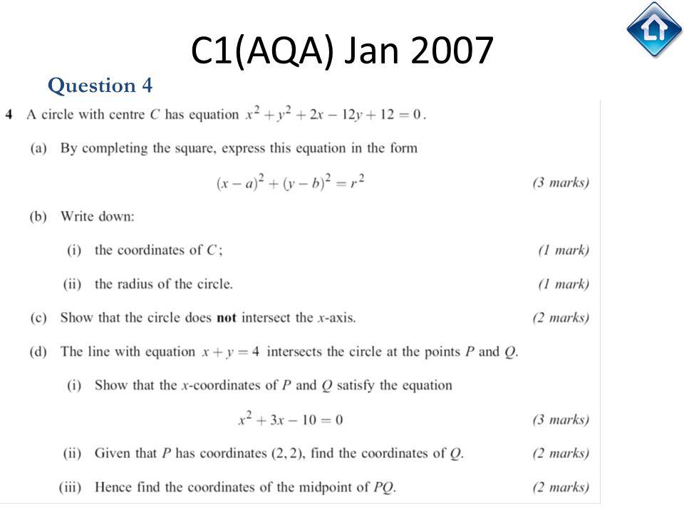 68 C1(AQA) Jan 2007 Question 4