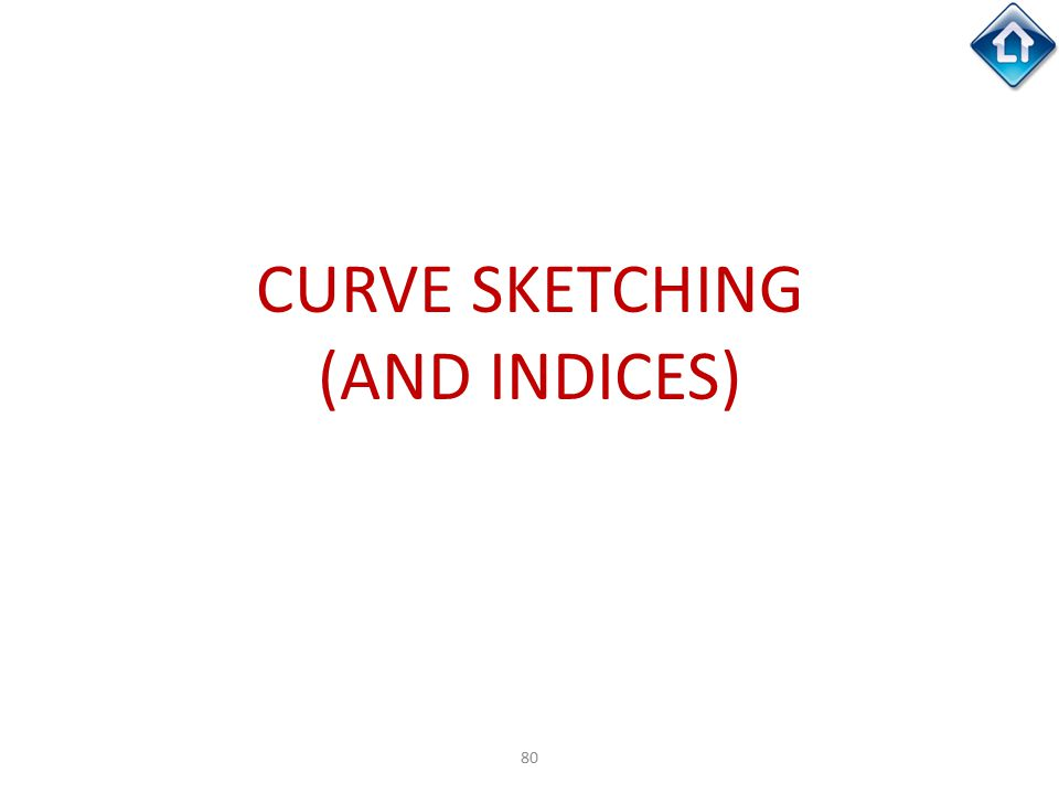 80 CURVE SKETCHING (AND INDICES)