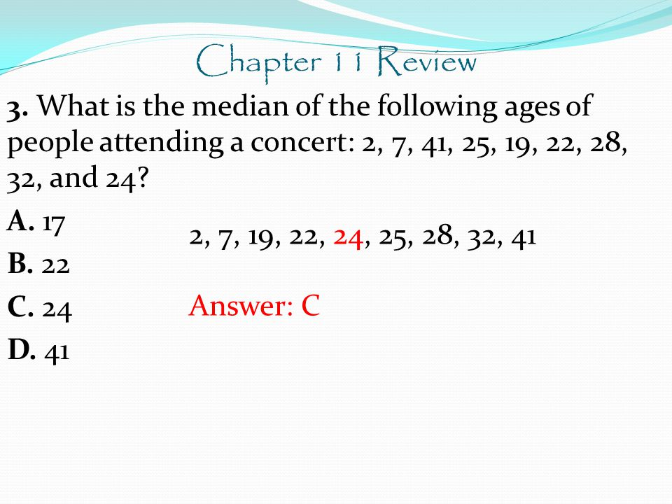 Chapter 11 Review 3.