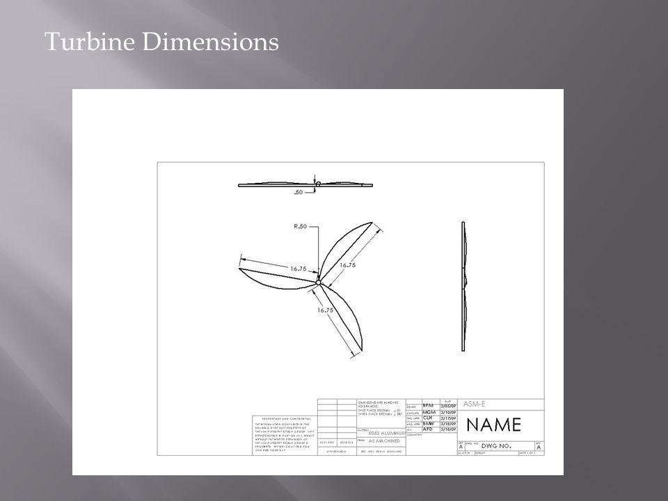 Turbine Dimensions