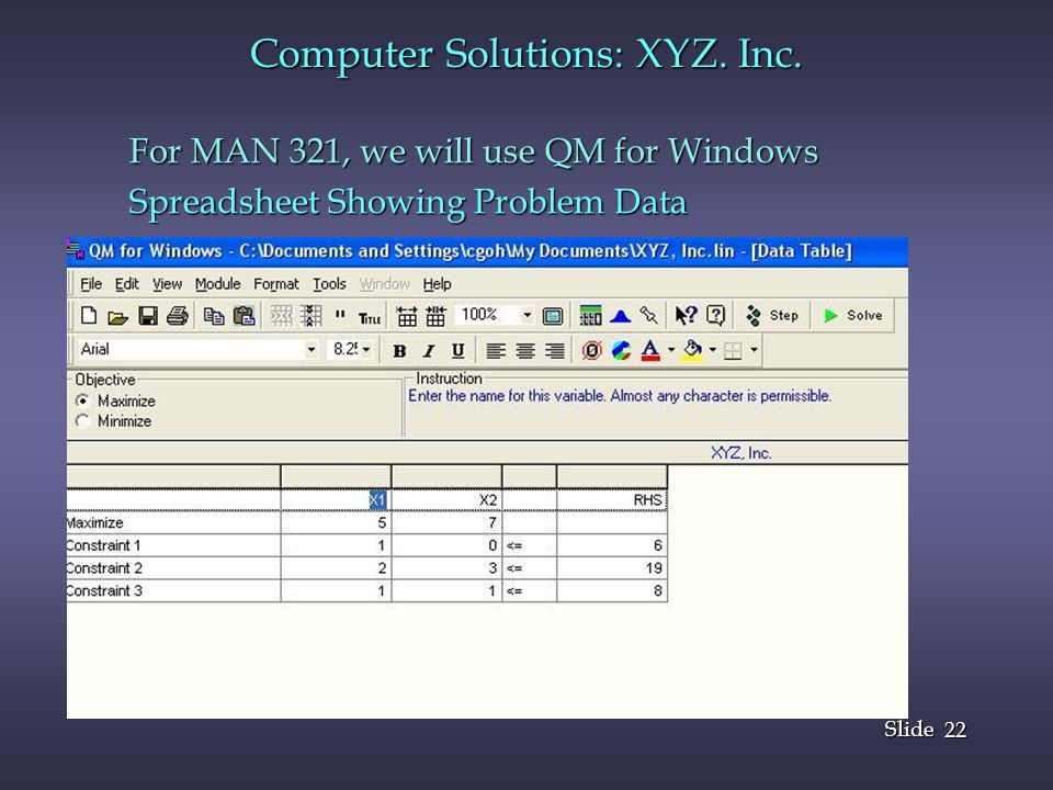 22 Slide Computer Solutions: XYZ.Inc.
