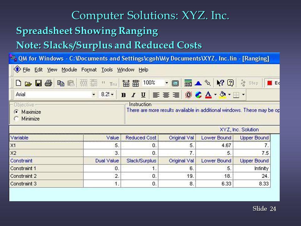 24 Slide Computer Solutions: XYZ.Inc.