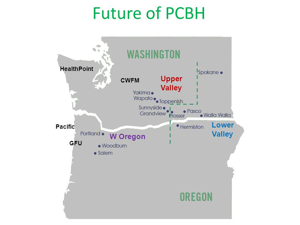 Future of PCBH GFU HealthPoint CWFM Pacific Lower Valley W Oregon Upper Valley