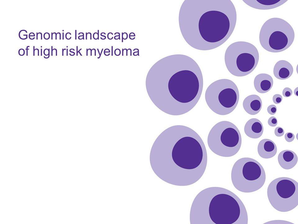 Genomic landscape of high risk myeloma