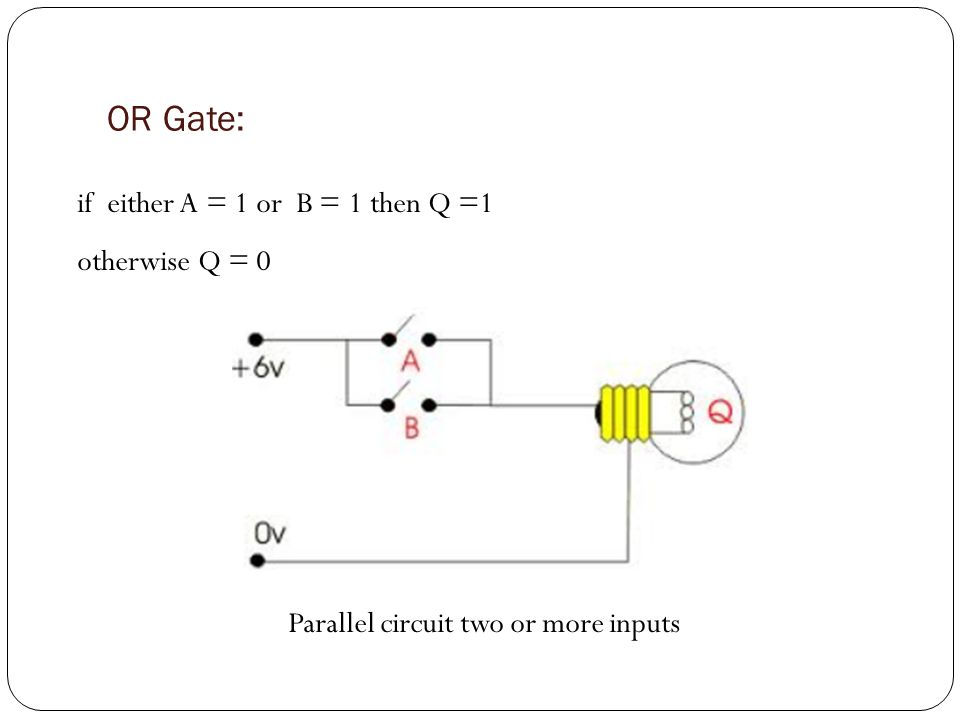 NOT Gate: O/PI/P 10 01 Currents goes through either Y or X1 Reverse the input signal (single input) :