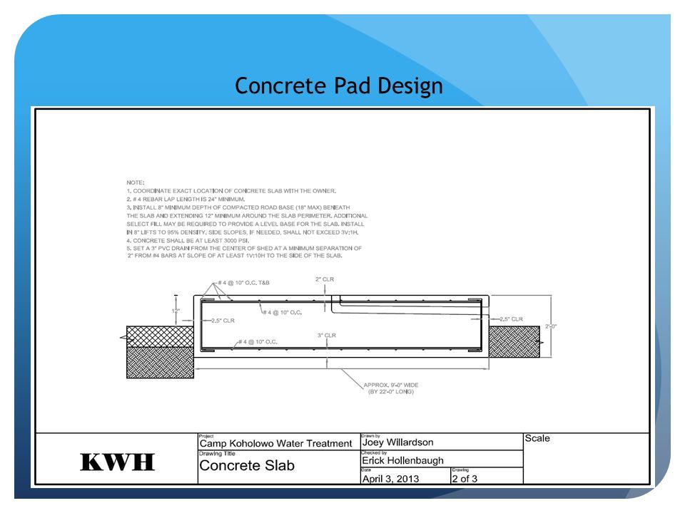 Concrete Pad Design
