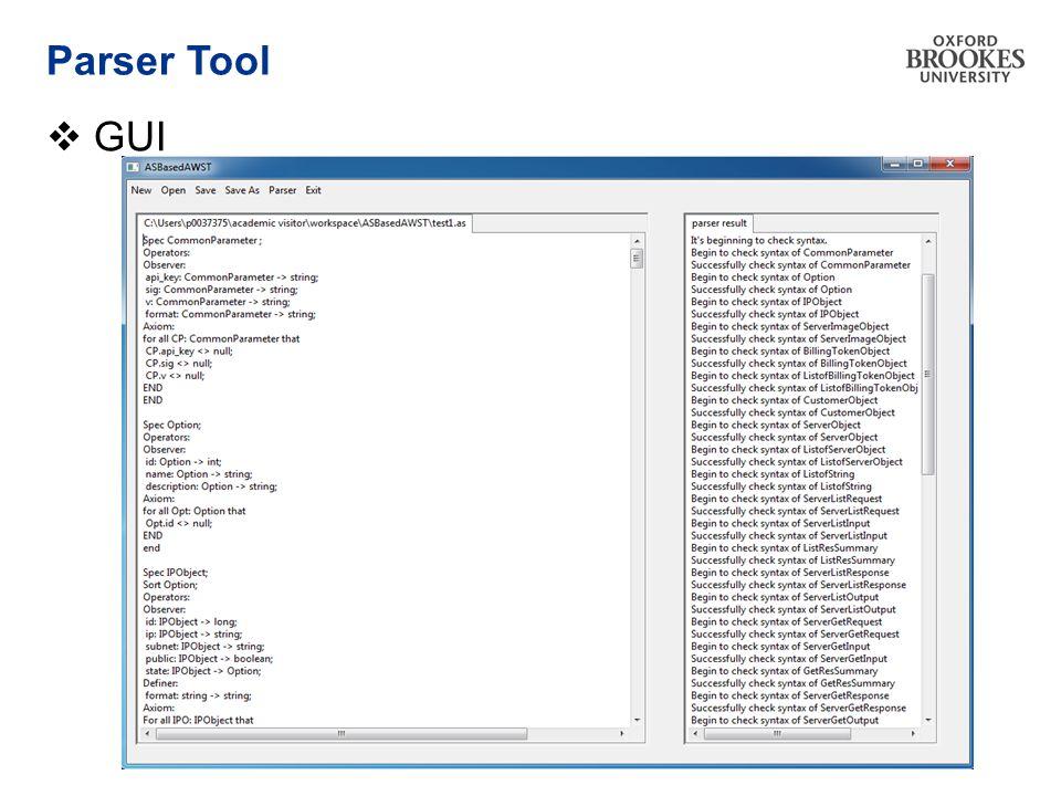 Parser Tool  GUI