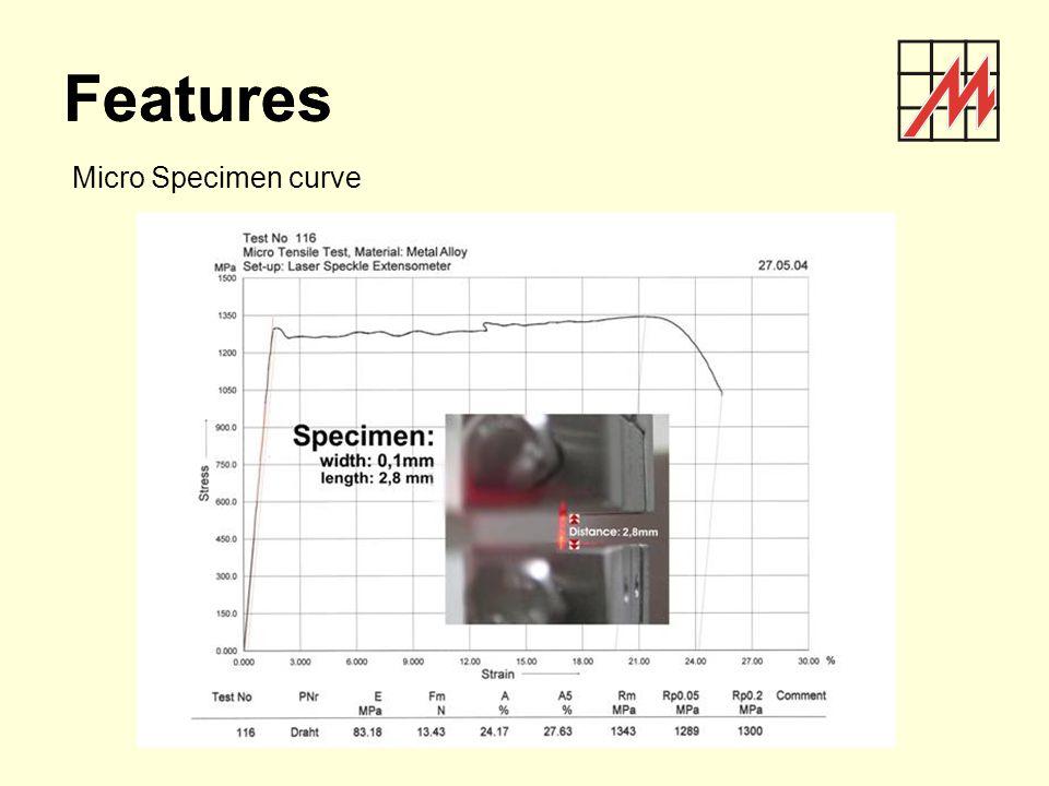 Micro Specimen curve Features