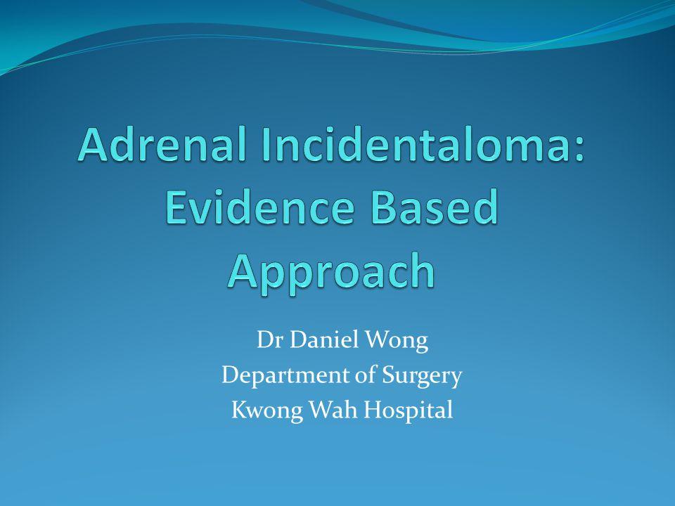 Dr Daniel Wong Department of Surgery Kwong Wah Hospital