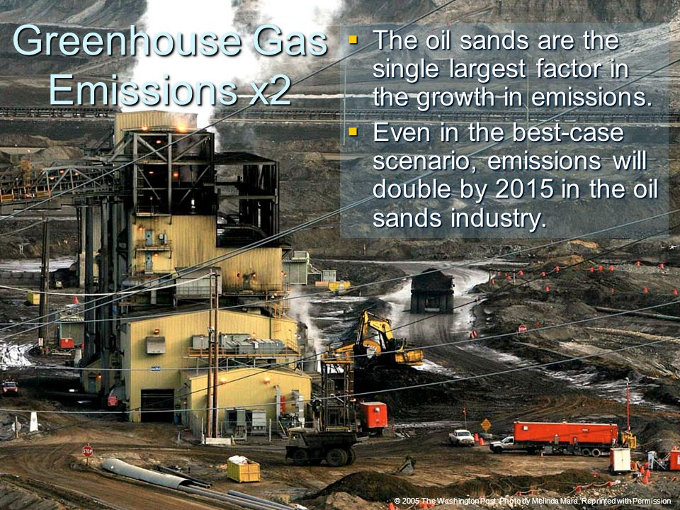 © 2005 The Pembina Institute www.pembina.org www.pembina.org Sustainable Energy Solutions Greenhouse Gas Emissions x2  The oil sands are the single largest factor in the growth in emissions.