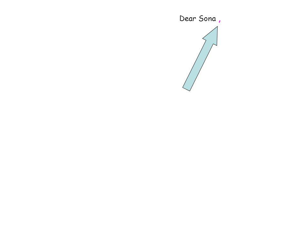 Dear Sona,