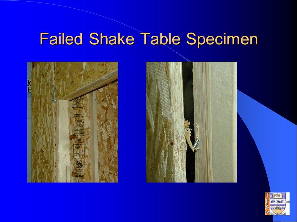 Failed Shake Table Specimen