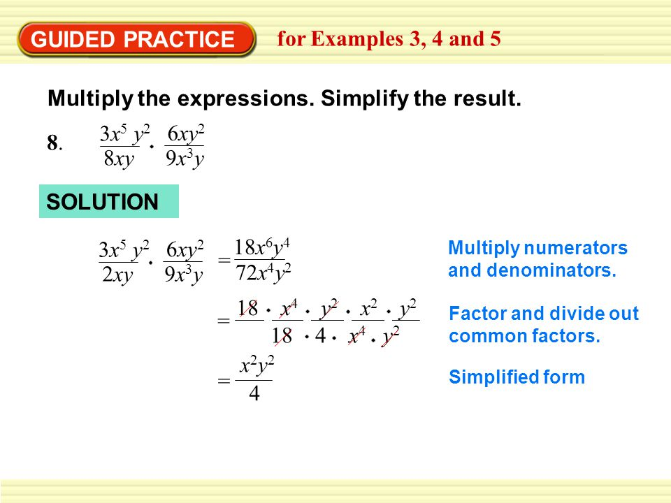 GUIDED PRACTICE for Examples 3, 4 and 5 9.