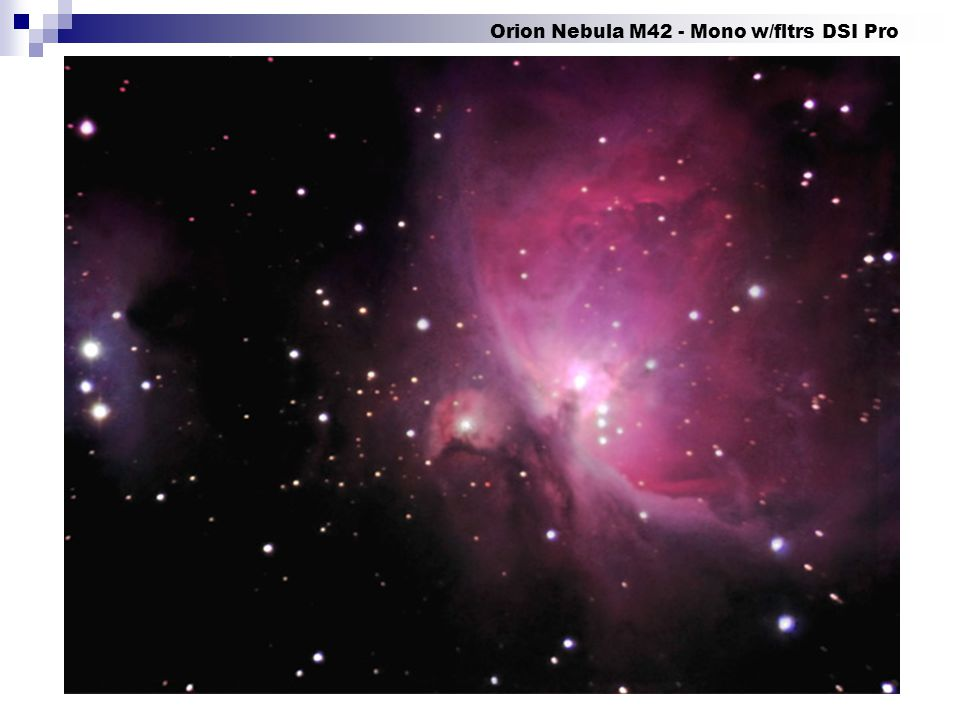 Orion Nebula M42 - Mono w/fltrs DSI Pro
