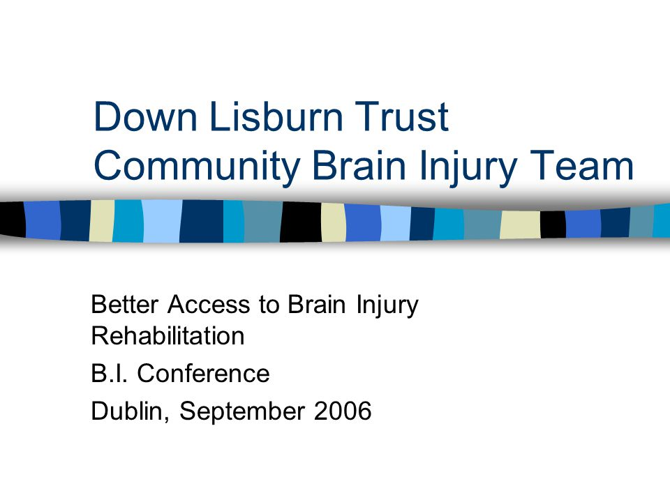 Down Lisburn Trust Community Brain Injury Team Better Access to Brain Injury Rehabilitation B.I.