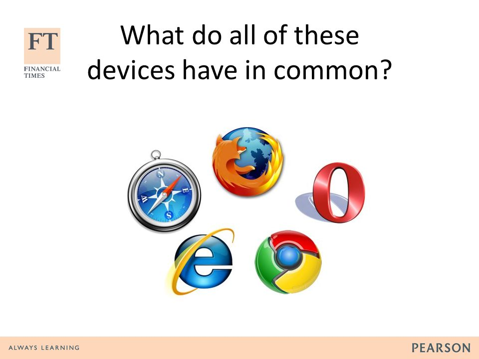 What do all of these devices have in common