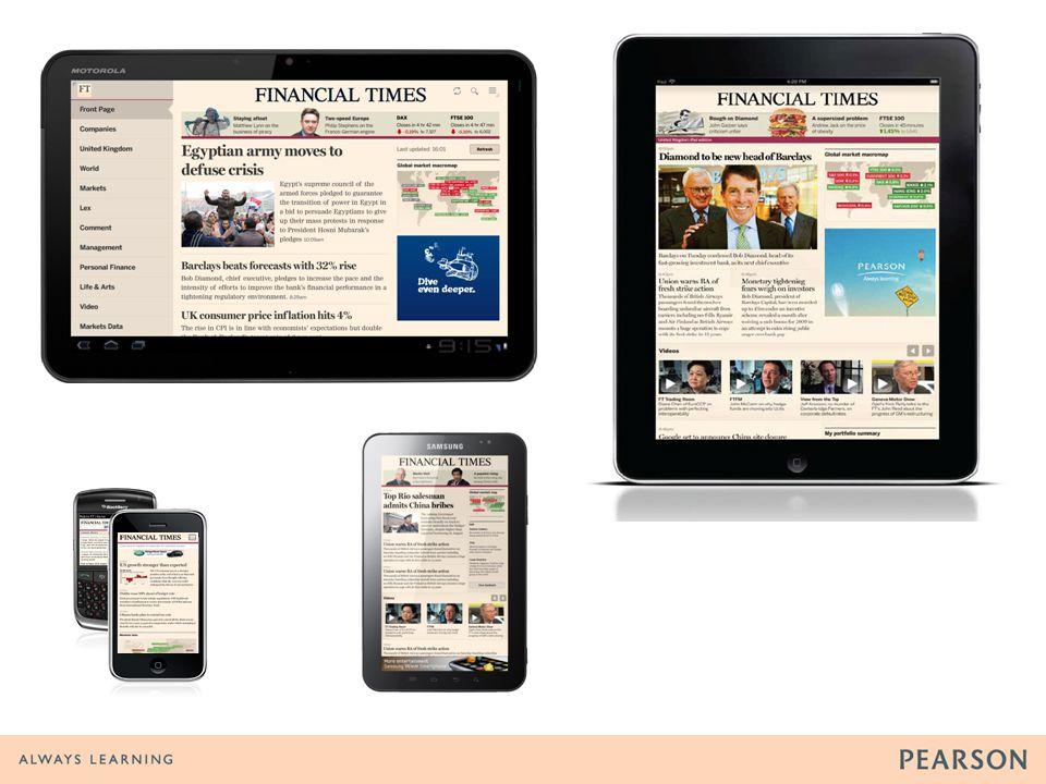 Major mobile releases 2004-11 2004 WAP site 2007 Mobile News Reader app 2008 m.ft.com 2009 iPhone app 2010 iPad app LBBT x2 Android 7 app 2011 HTML5 app framework.