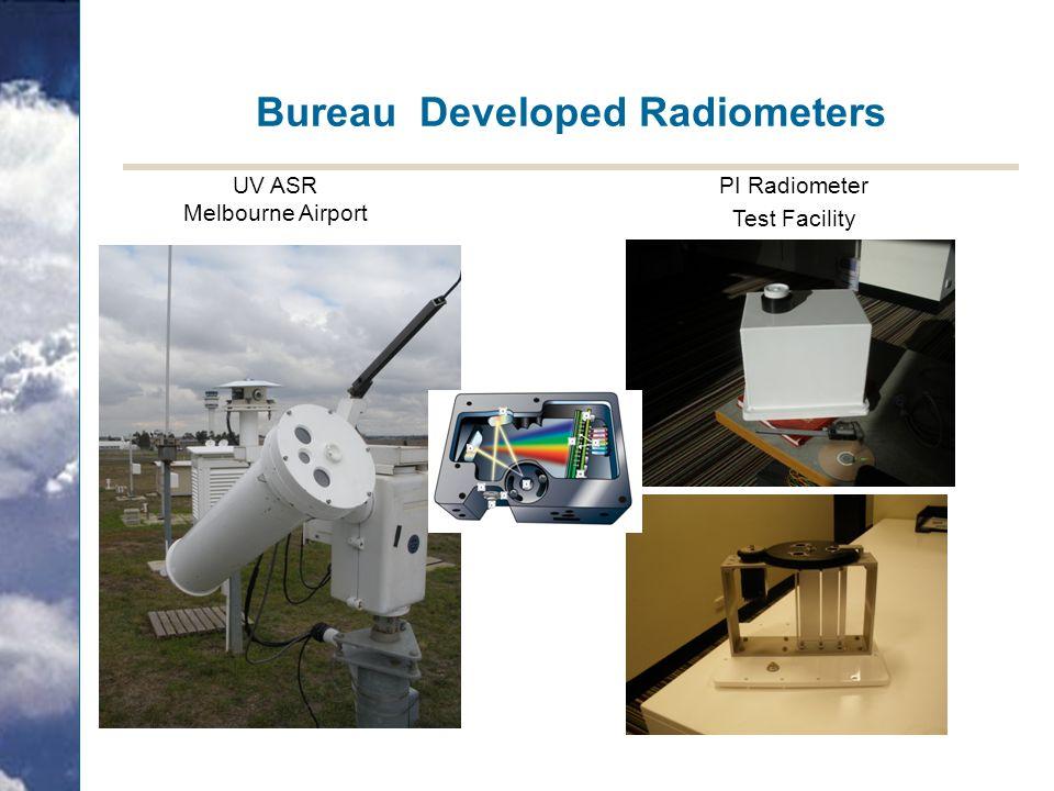 Bureau Developed Radiometers UV ASR Melbourne Airport PI Radiometer Test Facility