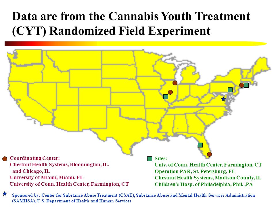Design Target Population: Adolescents with marijuana disorders who are appropriate for 1 to 3 months of outpatient treatment.