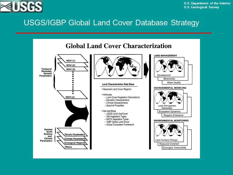 U.S. Department of the Interior U.S. Geological Survey USGS/IGBP Global Land Cover Database Strategy