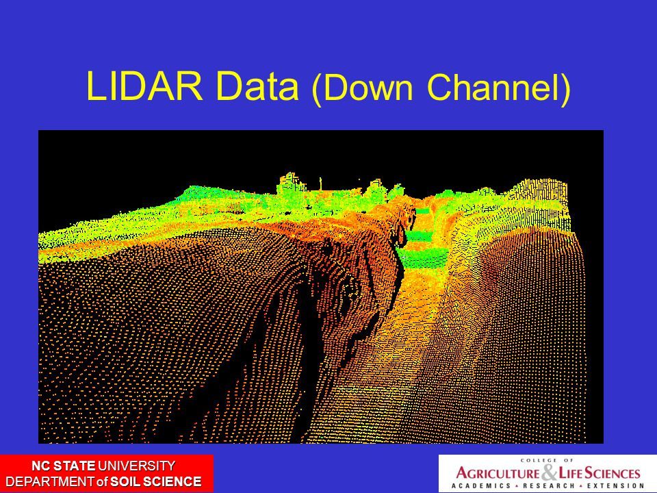 NC STATE UNIVERSITY DEPARTMENT of SOIL SCIENCE LIDAR Data (Down Channel)