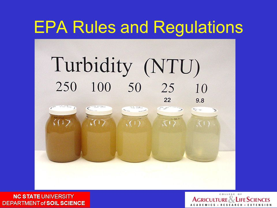 NC STATE UNIVERSITY DEPARTMENT of SOIL SCIENCE EPA Rules and Regulations