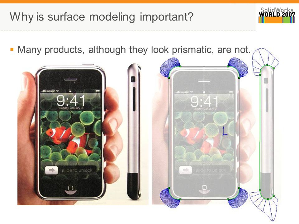 1 Why is surface modeling important  Many products, although they look prismatic, are not.