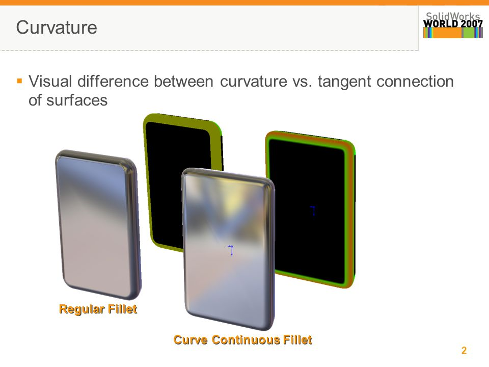 3 Explanation of C0 thru C3 C0 Condition – Surface boundaries share Common edge but no tangency C1 Condition – Surface boundaries share Common edge with tangency but rate of curvature does not match at boundary C2 Condition – Surface boundaries share Common edge with curvature matching C3 Condition – Surface boundaries share Common edge with curvature matching to greater degree than C2  Surface matching conditions explained