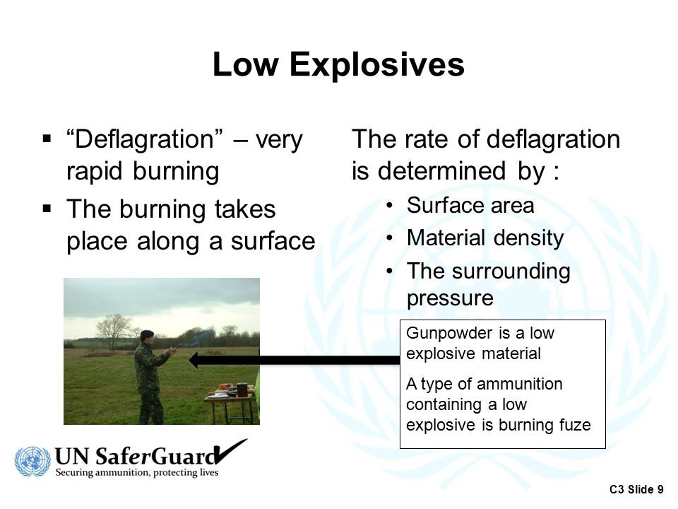 High Explosives  A supersonic shockwave which travels through the material  The Velocity of Detonation (VOD) Detonation rate is not determined by material density, surface area or outside pressure Detonators contain a pea-sized amount of high explosive.