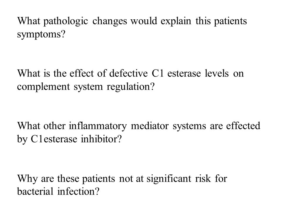 What pathologic changes would explain this patients symptoms.