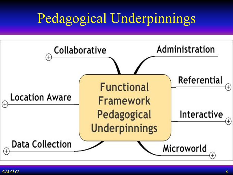 CAL05 C3 6 Pedagogical Underpinnings