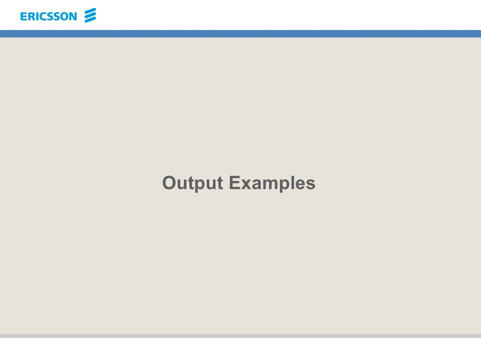 Output Examples